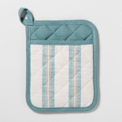 Stripe Pot Holder Aqua - Threshold™