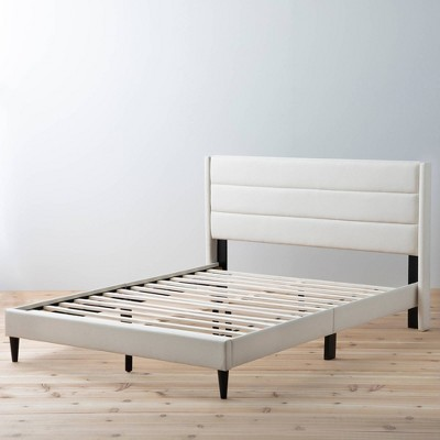 Sara Upholstered Bed with Horizontal Channels - Brookside Home