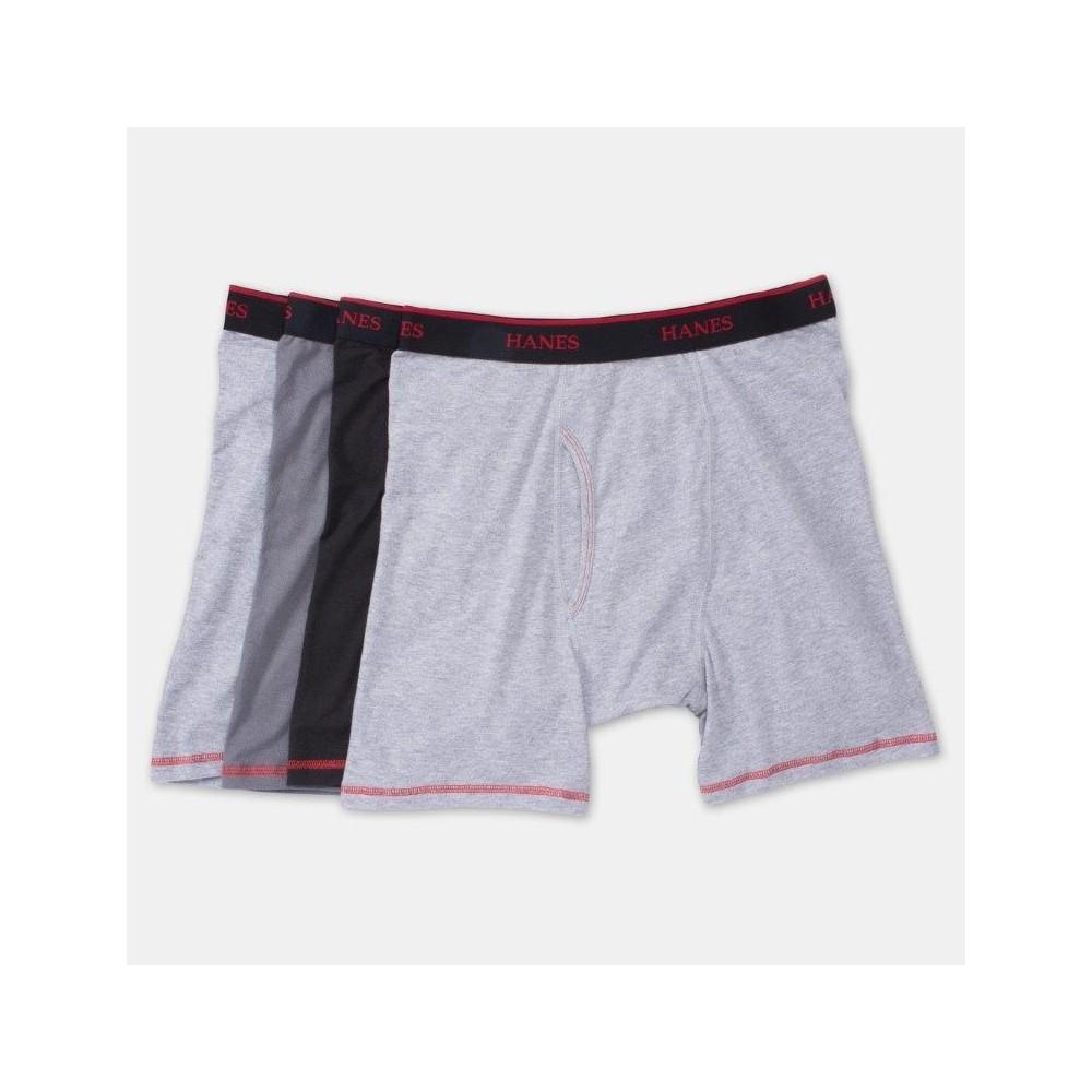 Hanes Men's Cool Comfort Boxer Briefs 4pk - Black/Grey L, Black/Gray
