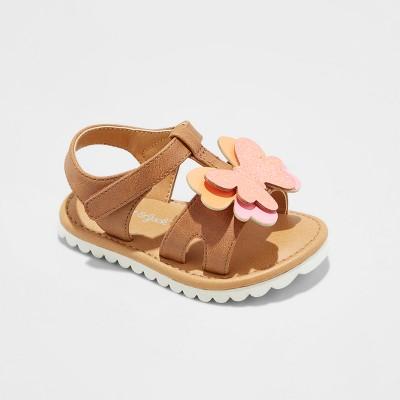 Infant Girls' Calista Slide Sandals - Cat & Jack™ Cognac 2