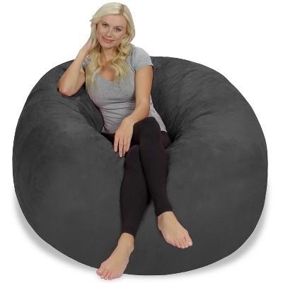 Large Memory Foam Bean Bag 5 ft - Charcoal - Relax Sacks