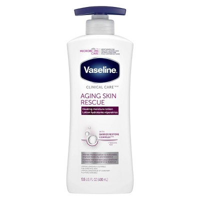 Vaseline Clinical Care Aging Skin Rescue Hand and Body Lotion - 13.5oz
