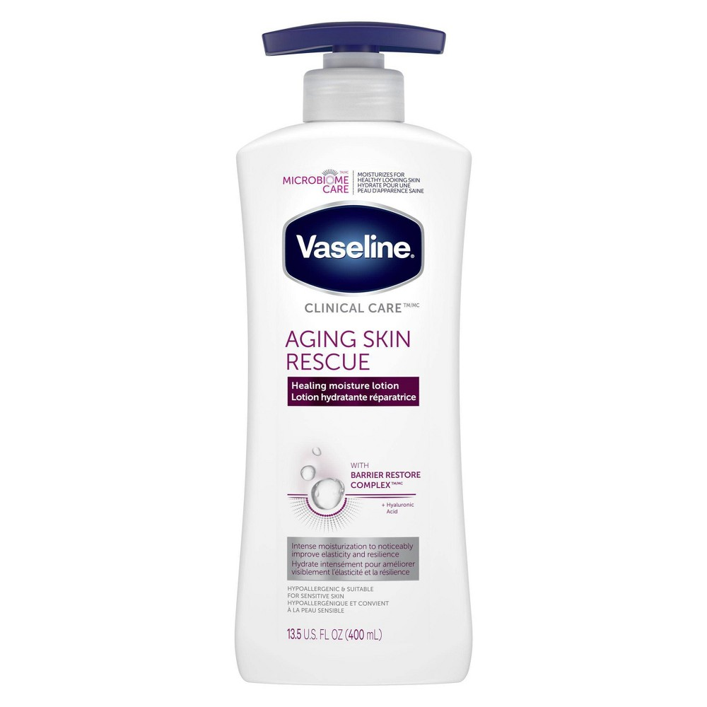 Image of Vaseline Clinical Care Aging Skin Rescue Hand And Body Lotion - 13.5oz