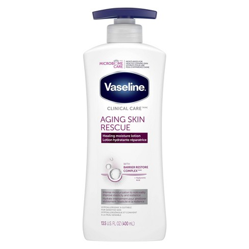 Vaseline Clinical Care Aging Skin Rescue Hand and Body Lotion - 13.5oz - image 1 of 4