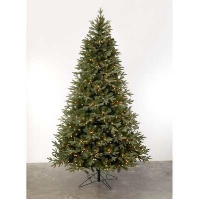 Sullivans 9' Blue Grey Spruce Artificial Tree with Lights 9'H Green