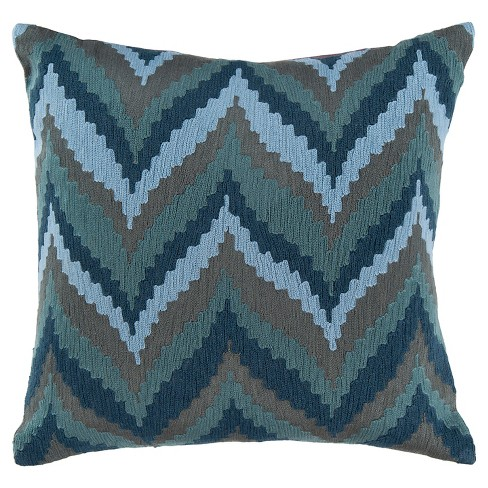 Embroidered Chevron Throw Pillow - Surya® - image 1 of 1