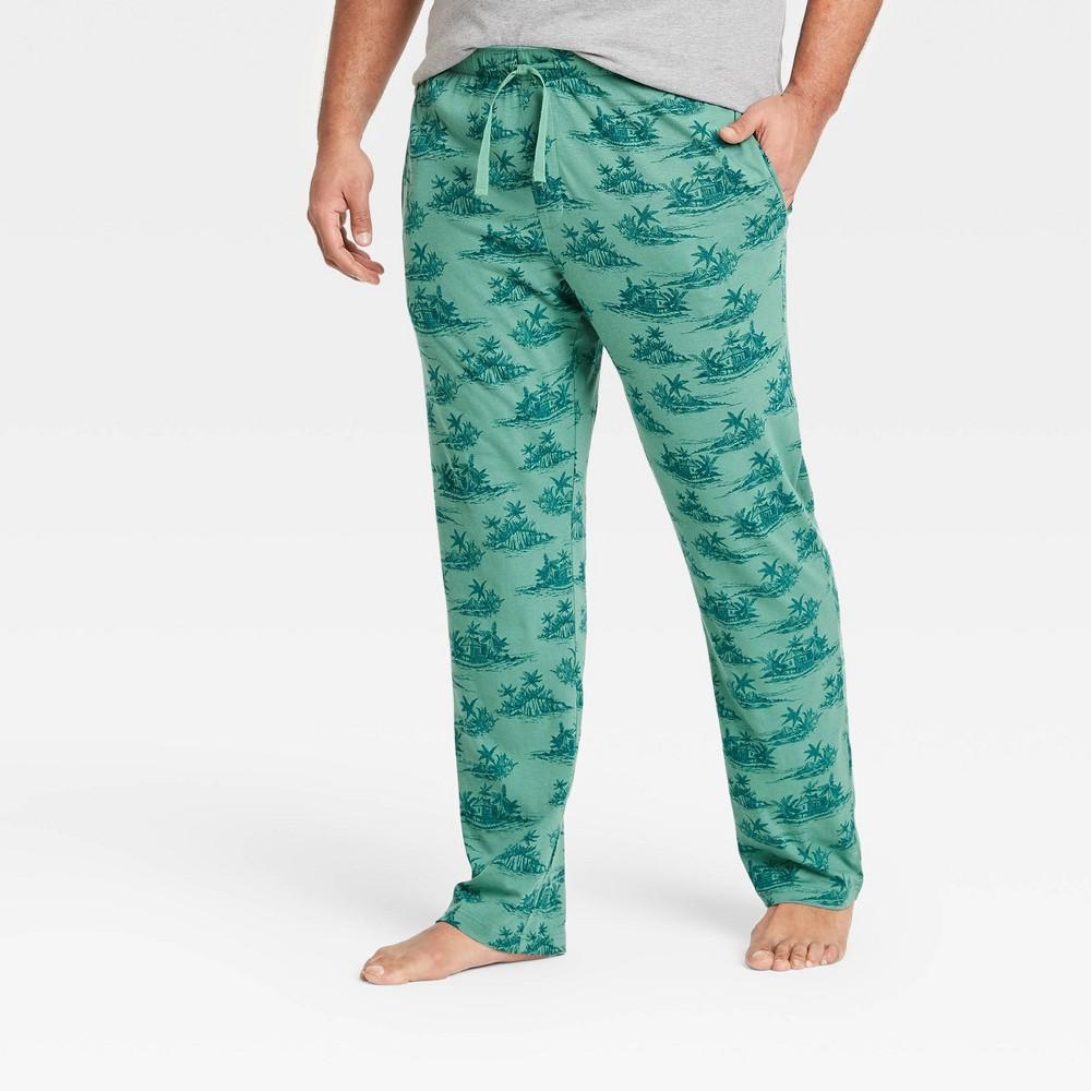 Men 39 S Big 38 Tall Regular Fit Knit Pajama Pants Goodfellow 38 Co 8482 Dusky Green 3xbt