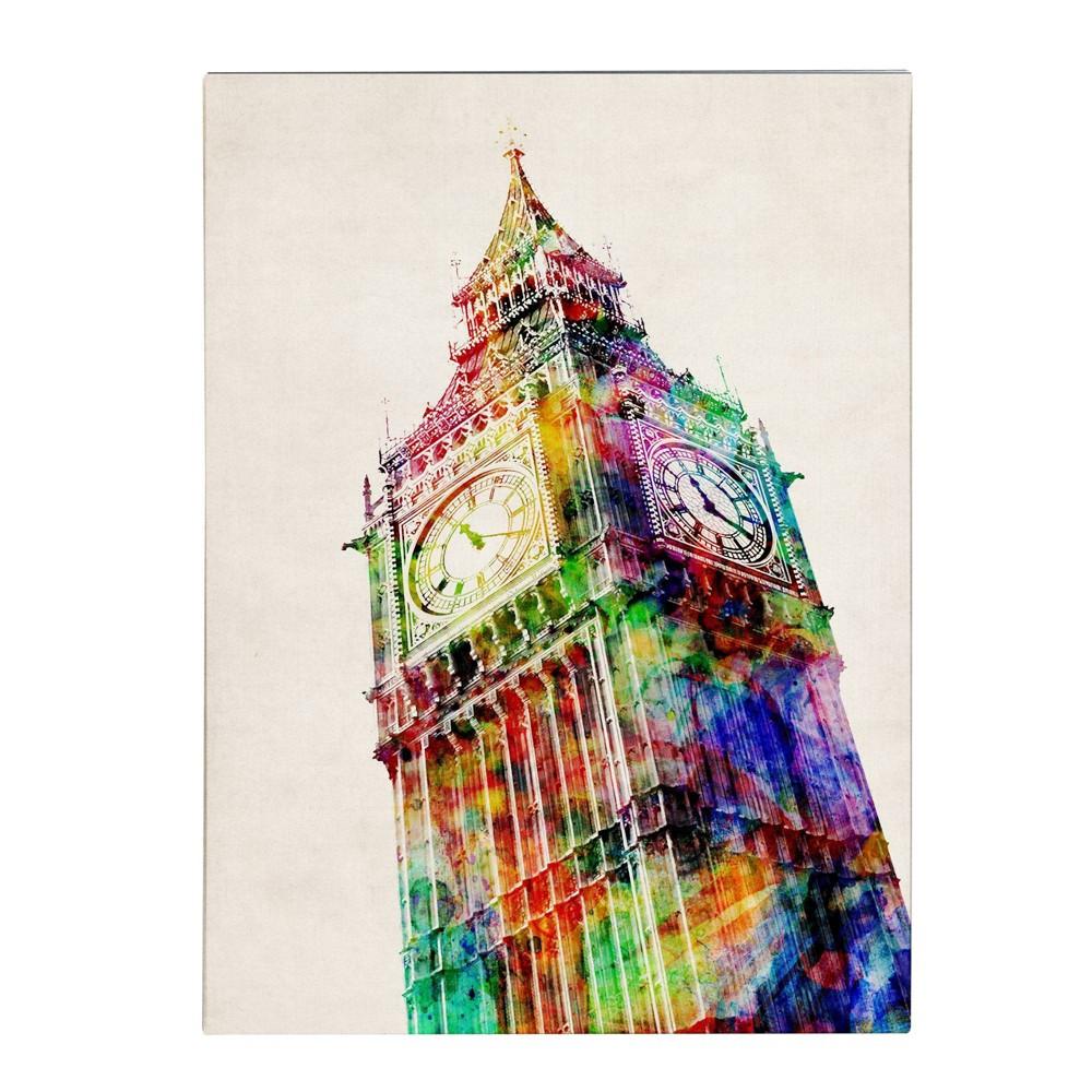 24 34 X 32 34 Big Ben By Michael Tompsett Trademark Fine Art