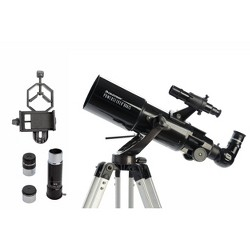 Celestron Powerseeker 80AZS Telescope with Basic Smartphone Adapter - Black