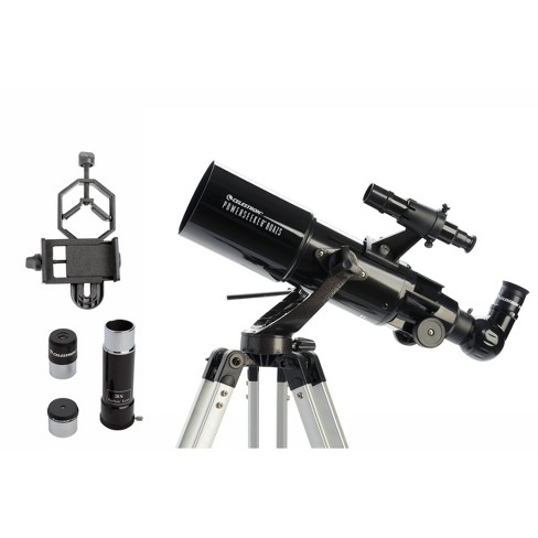 Celestron Powerseeker 80AZS Telescope with Basic Smartphone Adapter - Black - image 1 of 4