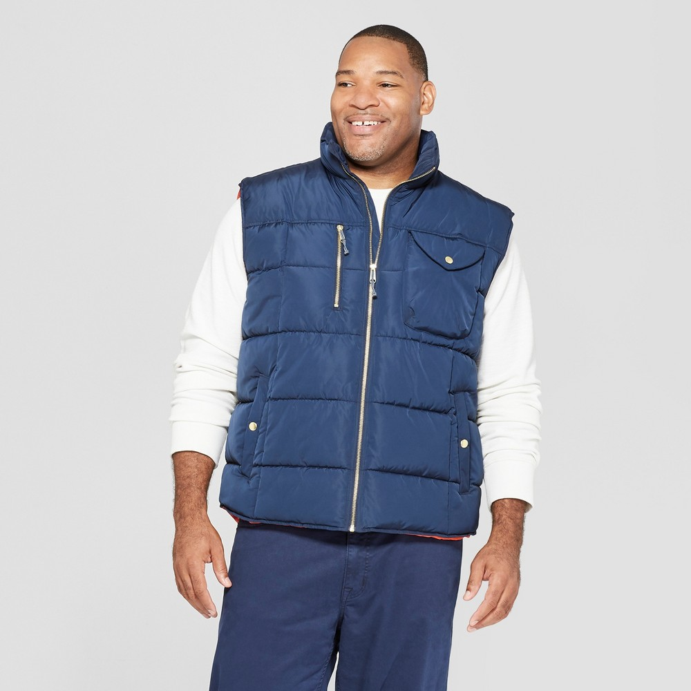 Men's Big & Tall Puffer Vest - Goodfellow & Co Navy (Blue) 4XB