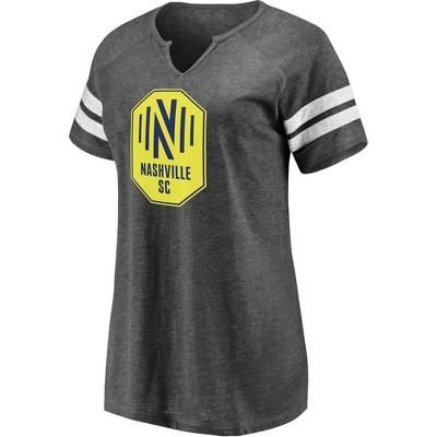 MLS Nashville SC Women's Short Sleeve Split Neck T-Shirt