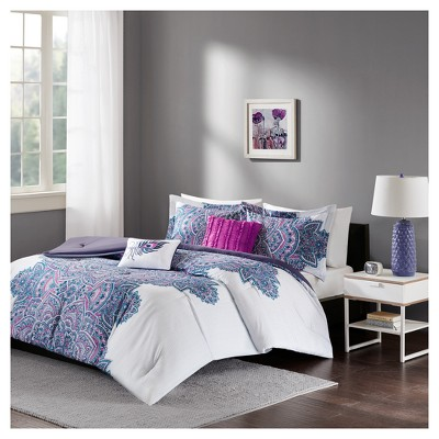 Purple Lolita Printed Comforter Set