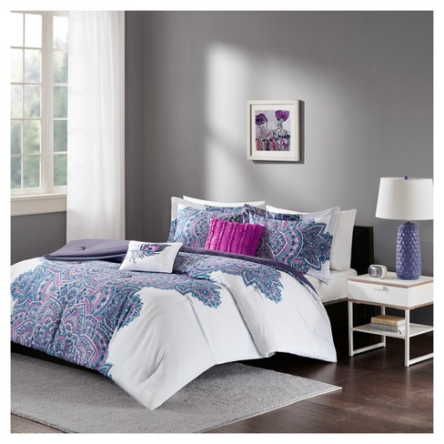 Purple Lolita Printed Comforter Set Target