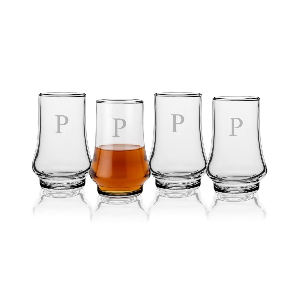 16oz 4pk Glass Whiskey Taster Monogrammed Glasses P Cathy 39 S Concepts