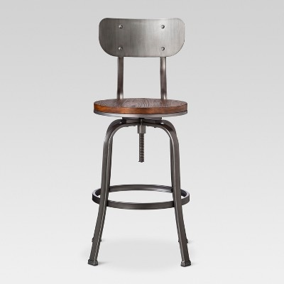 Dakota Adjustable Wood Seat Barstool  - Threshold™