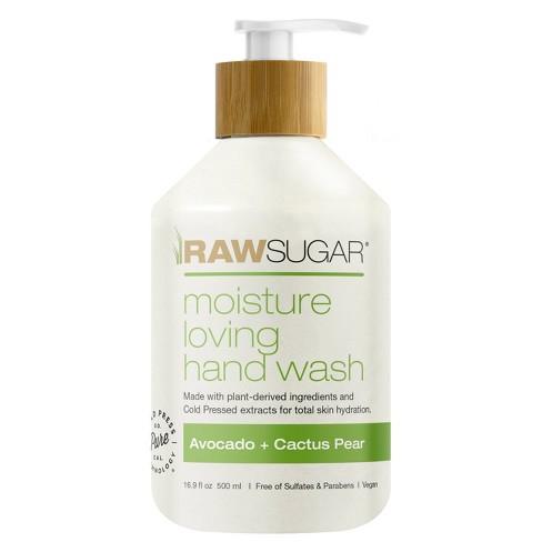 Raw Sugar Liquid Hand Soap Avocado + Cactus Pear - 16.9 fl oz - image 1 of 4