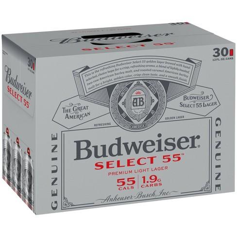 Budweiser Select 55 Light Lager Beer - 30pk/12 fl oz Cans - image 1 of 3