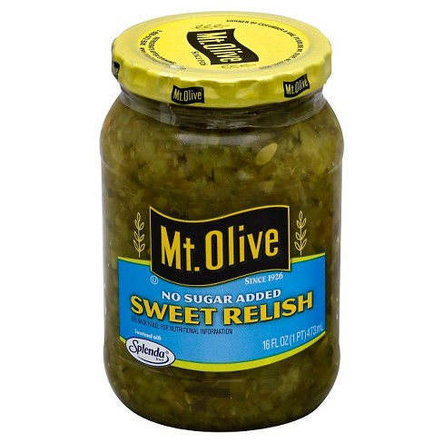 Mt. Olive® No Sugar Added Sweet Relish - 16 fl oz - image 1 of 1