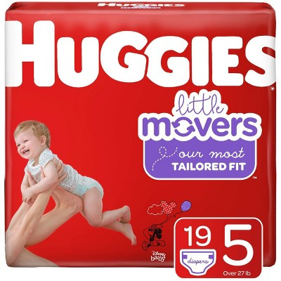 Huggies Little Movers Diapers - Size 5 (19ct)