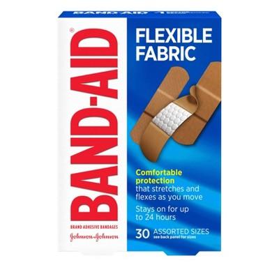 Band-Aid Flexible Fabric Brand Adhesive Bandages - 30ct