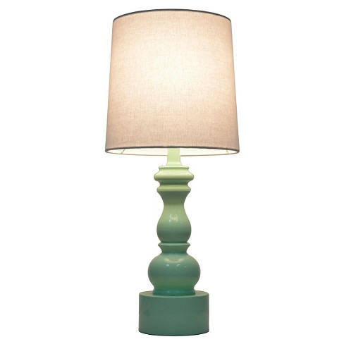 Turned Table Lamp Touch Control Mint Pillowfort