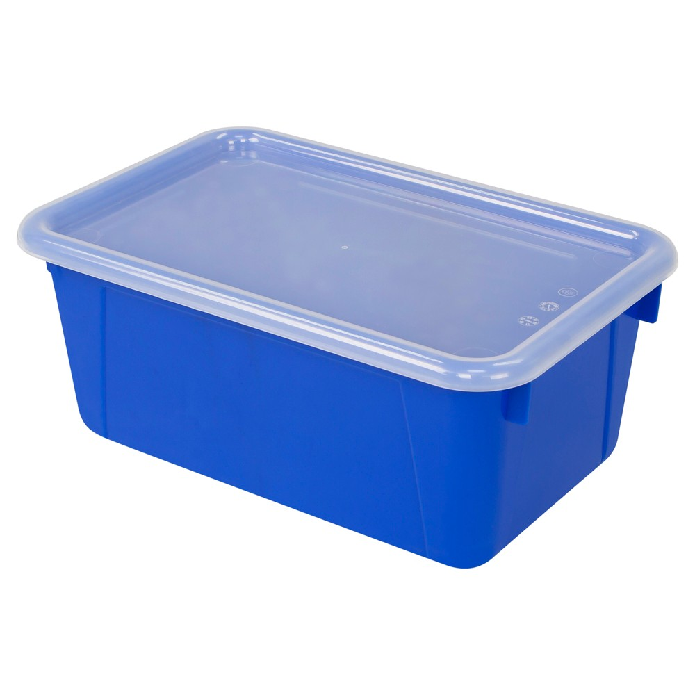 Storex Small Cubby Bin with Cover 6ct - Blue