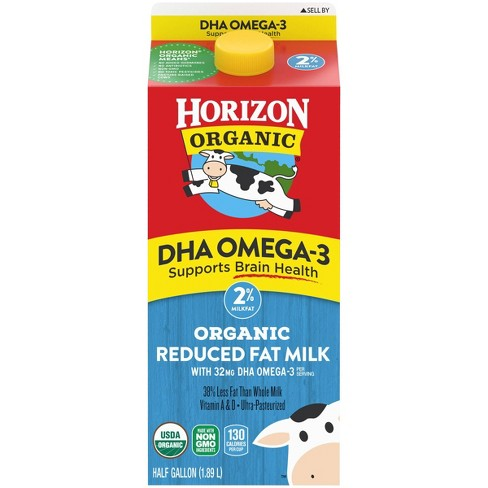 Horizon Organic 2% Milk with DHA Omega-3 - 0.5gal - image 1 of 4