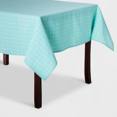 84 x60  Plaid Textile Tablecloth Blue - Spritz™
