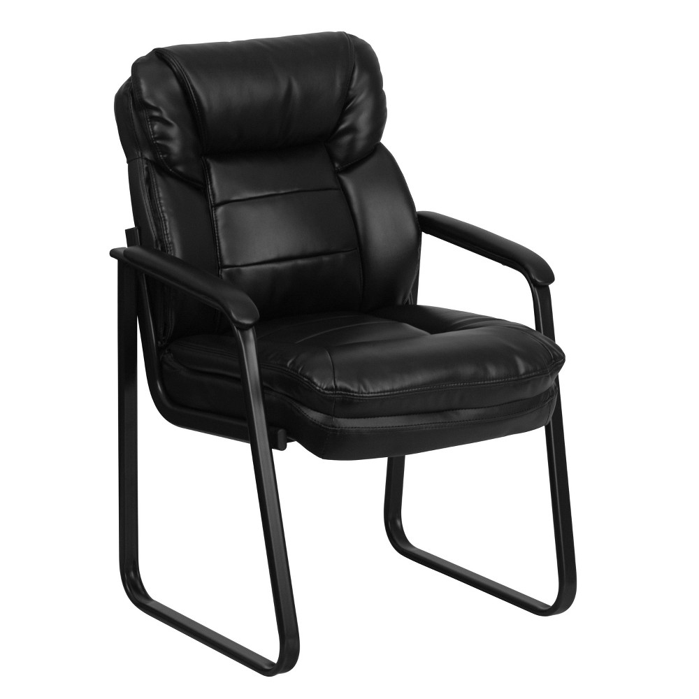Executive Side Chair Black Leather Flash Furniture
