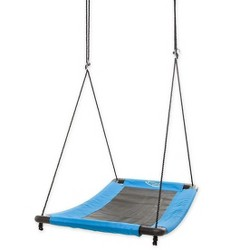 """HearthSong - SkyCurve Weather-Resistant Platform Tree Swing with Comfy Mat and Padded Steel Frame, 60""""L x 32""""W, Holds up to 400 lbs."""