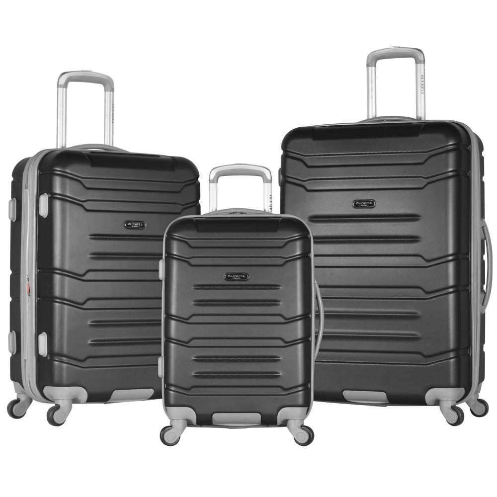 Image of Olympia USA Denmark 3pc Luggage Set - Black