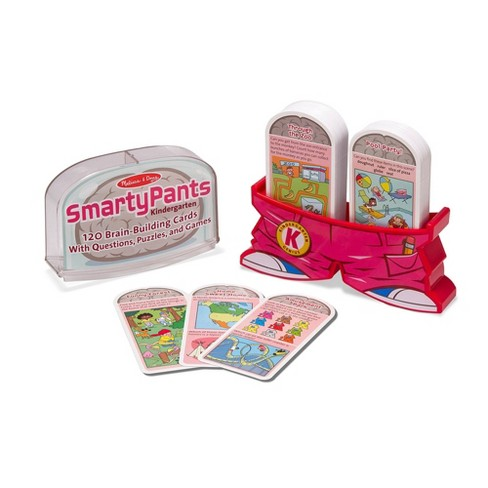 Melissa & Doug Smarty Pants Kindergarten Flash Card Set - 120 Educational, Brain - Building Questions, Puzzles, and Games - image 1 of 4