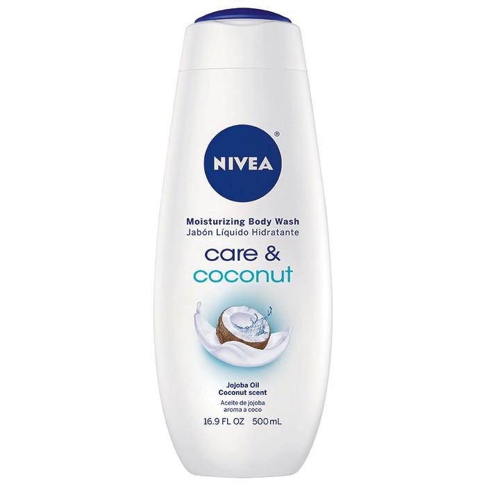 NIVEA Care and Coconut Moisturizing Body Wash Bottle - 16.9oz - image 1 of 4
