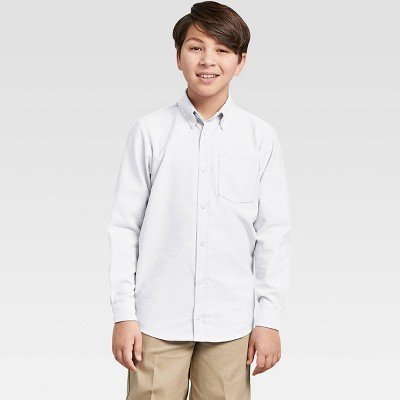 Dickies Boys' Long Sleeve Oxford Uniform Button-Down Shirt