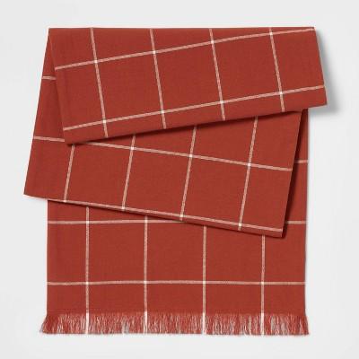 "72"" x 14"" Cotton Table Runner Copper - Threshold™"