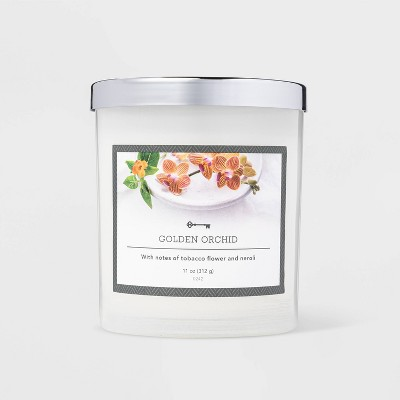 11oz Jar Golden Orchid Candle - Threshold™