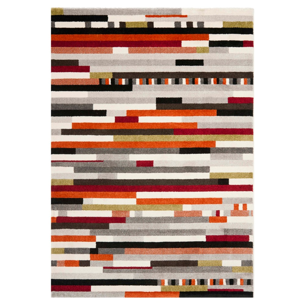 Geometric Area Rug - Ivory (8'x11'2) - Safavieh, Multi - Colored