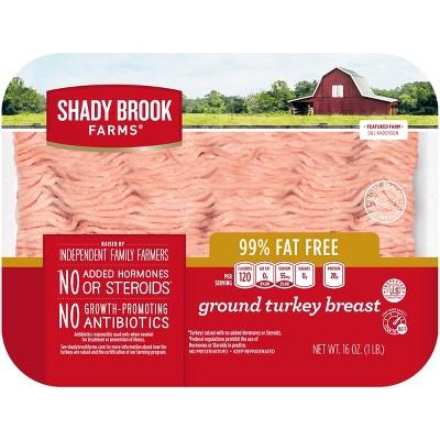Shady Brook Farms 99% Fat Free Ground Turkey Breast - 1lb