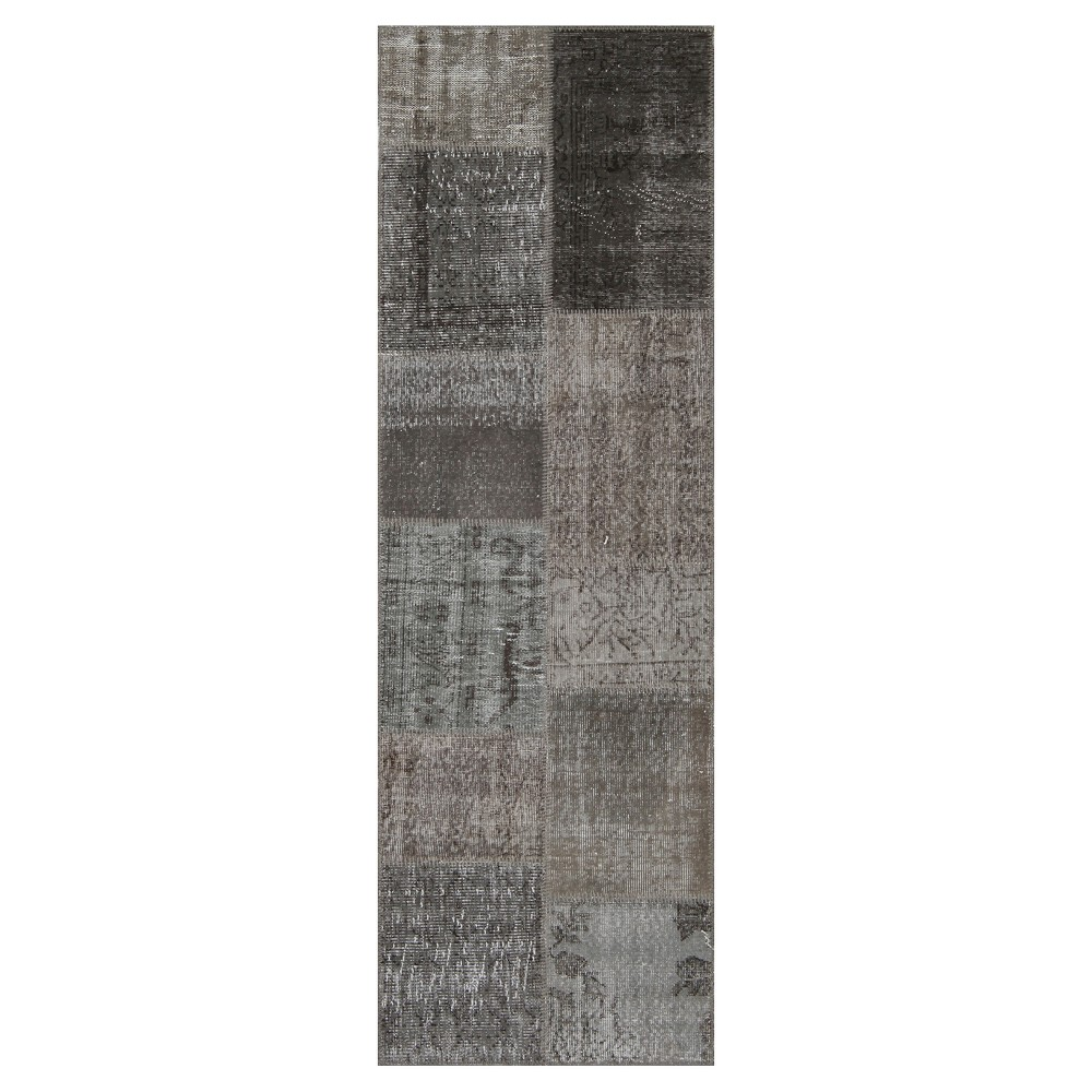 "Image of ""Antique Patchwork Runner Stone 2'7""""x8'2"""""""