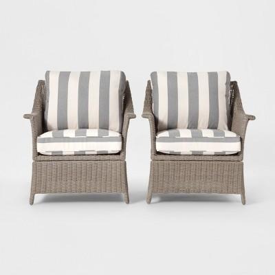 Pleasant Foxborough 2Pk Patio Club Chair Gray Threshold Brickseek Dailytribune Chair Design For Home Dailytribuneorg