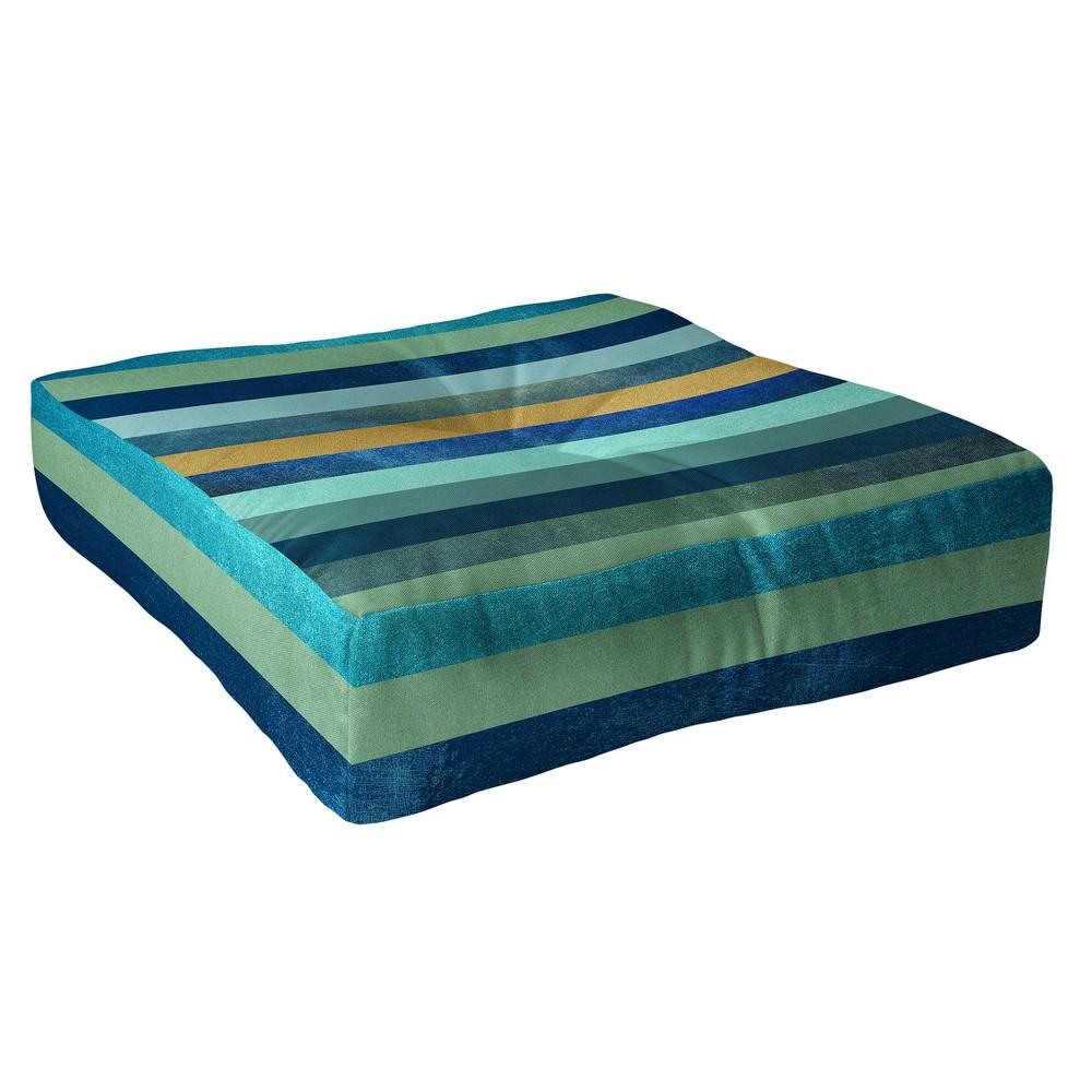 Bianca Linocut Monstera Floor Pillow (23
