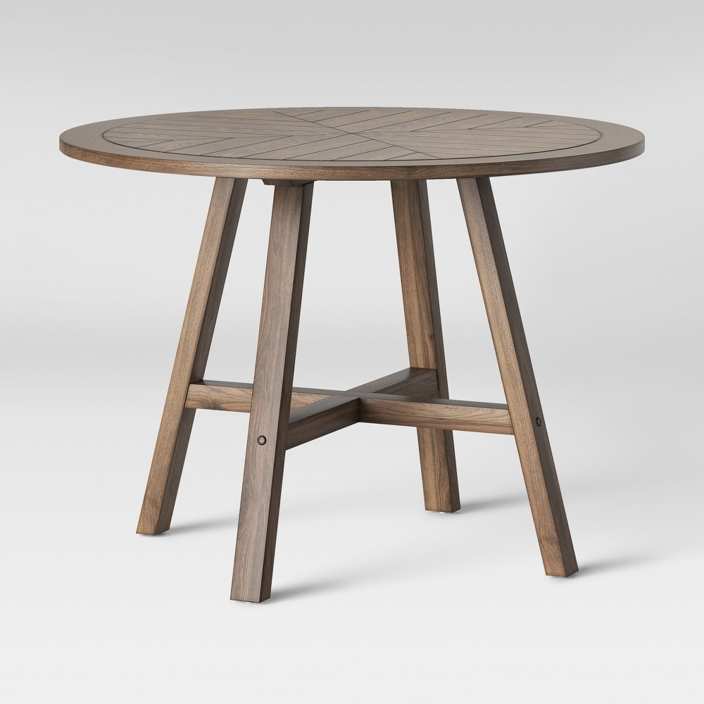 42 Eastford Groove Dining Table Brown - Threshold