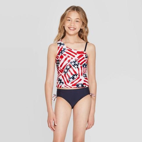 f76f86b66 Girls' Americana Family Tankini Set - Red : Target