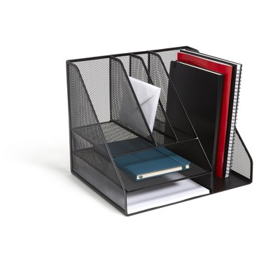 TRU RED 8 Compartment Wire Mesh Desk Organizer TR57533-CC