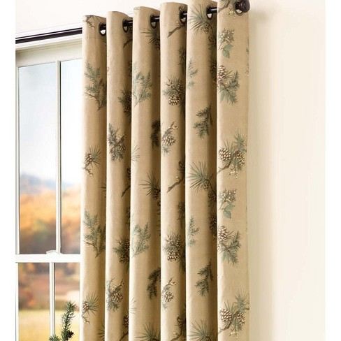 """Thermalogic Insulated Peaceful Pine Grommet-Top Curtain Pair, 84'' L X 40"""" W - Thermalogic - image 1 of 2"""