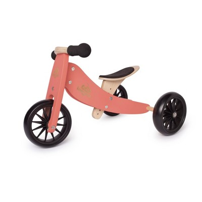 Kinderfeets Tiny Tot 2-in-1 Toddler No Pedal Starter Balance Bike Tricycle