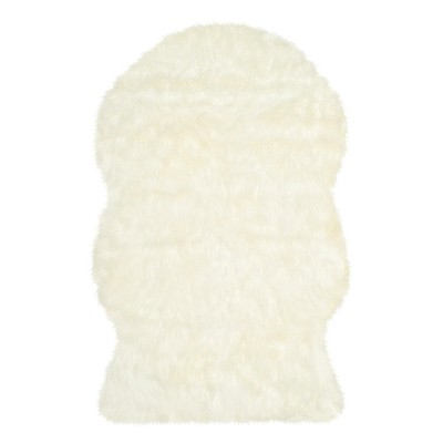 Faux Sheep Skin Rug - Ivory - (3'X5')- Safavieh®