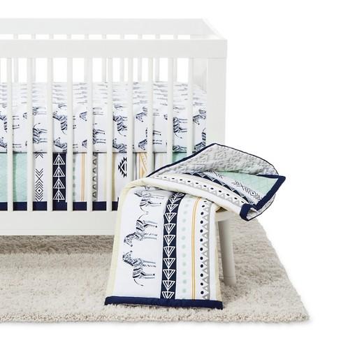 The Peanut Shell Crib Bedding Set 4pc Indio