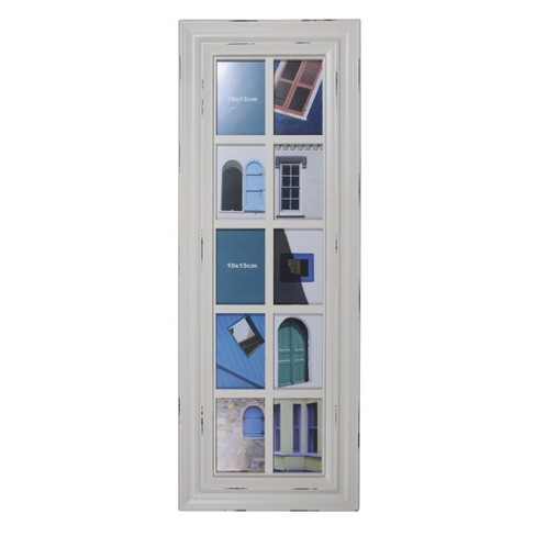 """Northlight 4"""" x 6"""" White Window Pane Collage Photo Picture Frame Wall Decoration - image 1 of 4"""